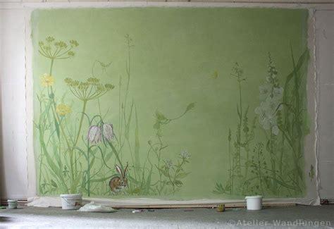 Wandgestaltung Kinderzimmer Wiese by Wandbespannung Atelier Wandlungen Berlin Kinderzimmer