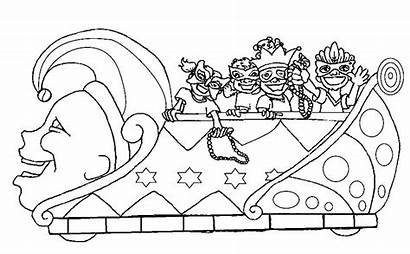 Gras Mardi Coloring Pages Parade Crawfish Clipart