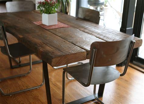 custom reclaimed dining table  left   furniture
