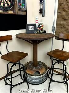 Table Bar But : industrial bar table game room orc salvage sister and mister ~ Teatrodelosmanantiales.com Idées de Décoration