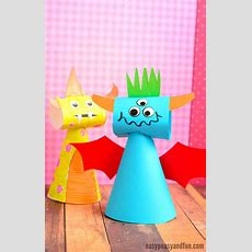 Paper Cone Monster Craft  Easy Peasy And Fun