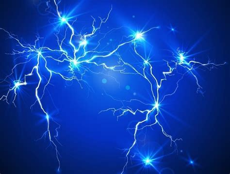 free blue lightning background vector 01 titanui