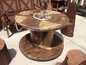 Tisch Aus Kabeltrommel : hab aus einer alten kabeltrommel einen gartentisch gezaubert gartenbaenke wooden cable ~ Orissabook.com Haus und Dekorationen