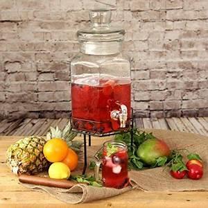 Getränkespender Mit Ständer : getr nkespender aus glas mit st nder 197 unzen 5 6 liter von bar drinkstuff getr nkespender ~ Eleganceandgraceweddings.com Haus und Dekorationen