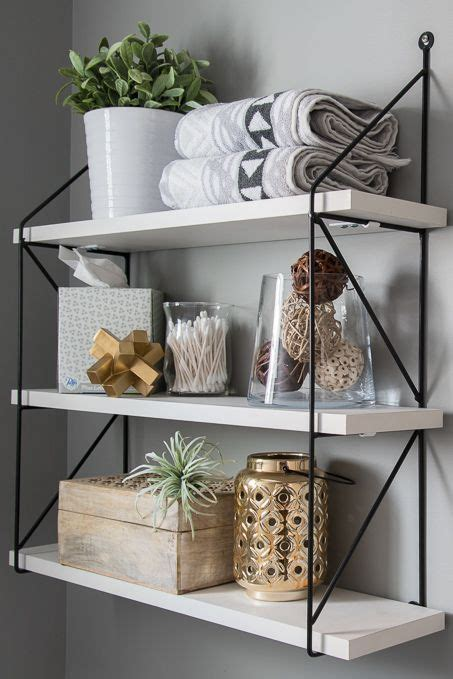 Decorating Ideas For A Bathroom Shelf by Best 25 Decorating Bathroom Shelves Ideas On