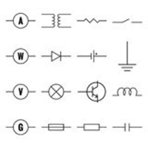 set of electronic circuit symbols stock vector 77183273