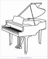 Coloring Piano Popular Title sketch template