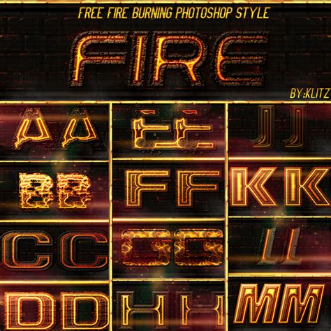 fire style text effect  psd  photoshop psd