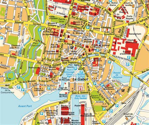 Carte De La Ville by La Rochelle Plan