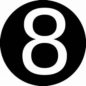 Red, Rounded,with Number 8 Clip Art at Clker.com - vector ...