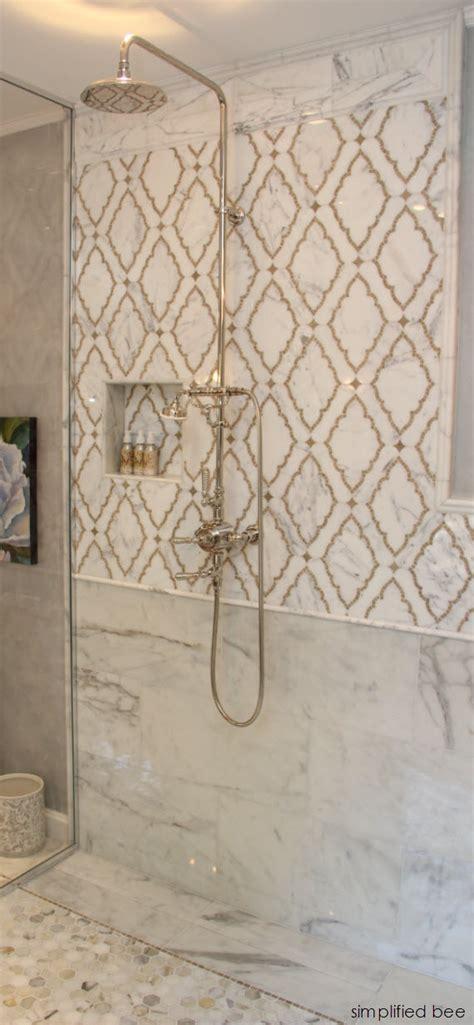 master bathroom shower floor mosaic detail 1000 images about master bath on carrara