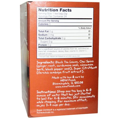 Tazo Tea Nutrition Facts