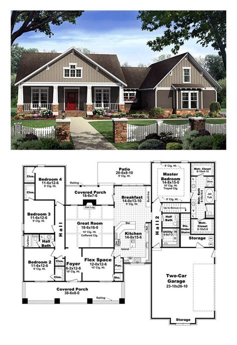 Craftsman Style Floor Plans by Bungalow Style Cool House Plan Id Chp 40655 Total
