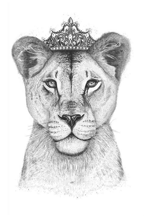 The lioness Queen | Poster | artboxONE | Lioness tattoo