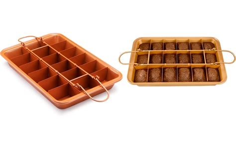 gotham steel brooklyn brownie copper baking pan groupon