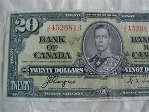 1937 Canadian Twenty Dollar Bill Canada Paper Money $20 00 ...