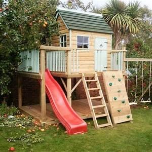 Spielhaus Garten Mit Rutsche : spielhaus mit rutsche und kletterwand garten spielh user ~ Watch28wear.com Haus und Dekorationen