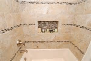 bathroom borders ideas furniture vanity rectangle sink glass tile inlay border rows transitional bathroom