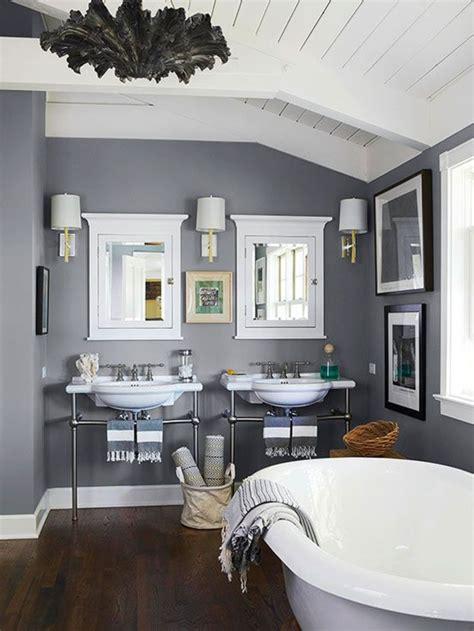 idee salle de bain grise peinture salle de bain 80 photos qui vont vous faire craquer