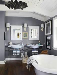 Baignoire à Poser : peinture salle de bain 2016 2017 77 photos qui vont ~ Melissatoandfro.com Idées de Décoration