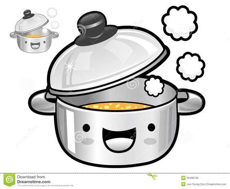 dessin casserole cuisine divers styles des ensembles chauds de casserole icône ser