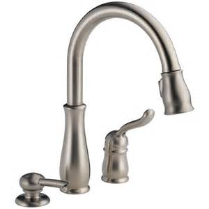 shop delta leland stainless 1 handle pull deck mount kitchen faucet at lowes - Leland Delta Kitchen Faucet