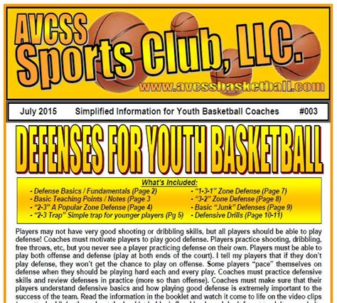 zone basketball youth defenses defense