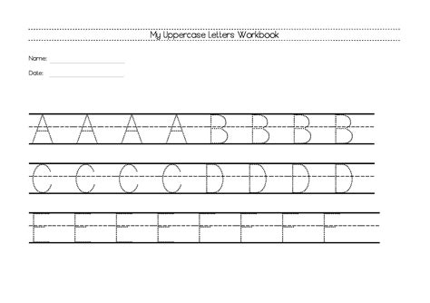 uppercase letters worksheets  resources