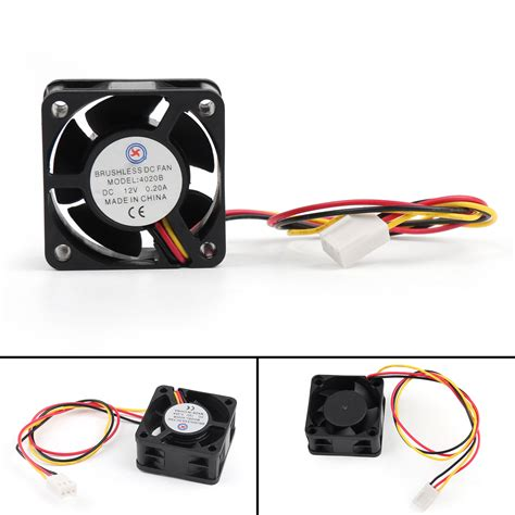 computer fan wiring dc brushless pc computer fan 12v 0 2a 4020b