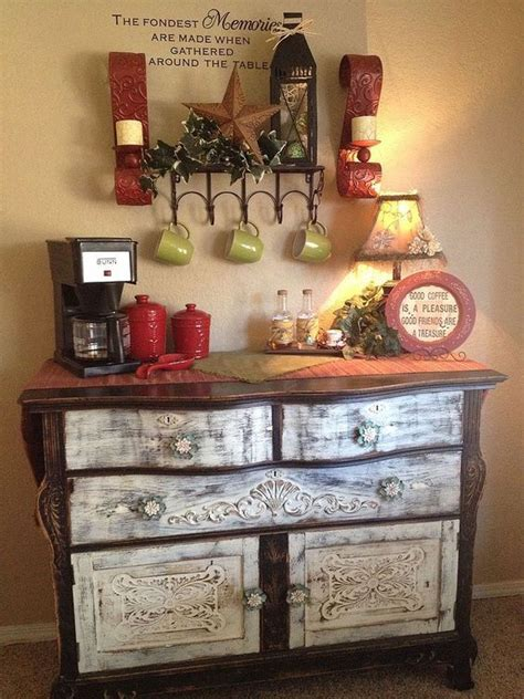 Got a small corner and you have any small cabinet can be topped with a small compact coffee maker. 25+ DIY Coffee Bar Ideas for Your Home (Stunning Pictures)