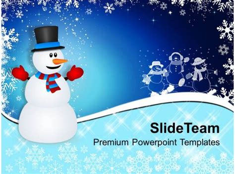 christmas stocking winter snowman  background powerpoint