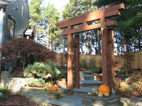 japanese garden trellis japanese arbor idea blue stone walkway with japanese garden influenced plantings unique