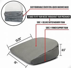 dr flink pregnancy memory foam wedge bed pillow support With body slant cushion