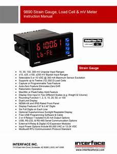 9890 Strain Gauge Load Cell Mvv Indicator