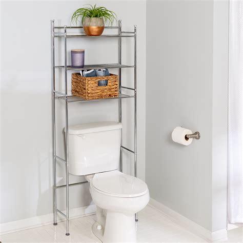tier   toilet shelving unit chrome