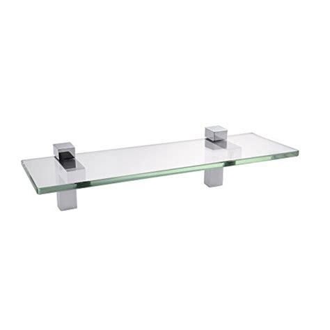 bathroom tempered glass shelf wall mount rectangular