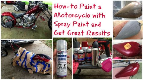 diy how to paint a motorcycle with spray paint and get