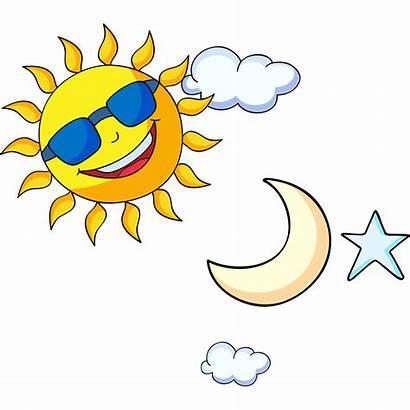 Moon Sun Stars Clip Cartoon Transparent Clipart