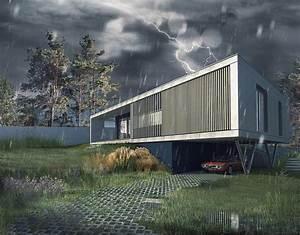 mte dank architectes With maison en beton banche 2 mlel dank architectes