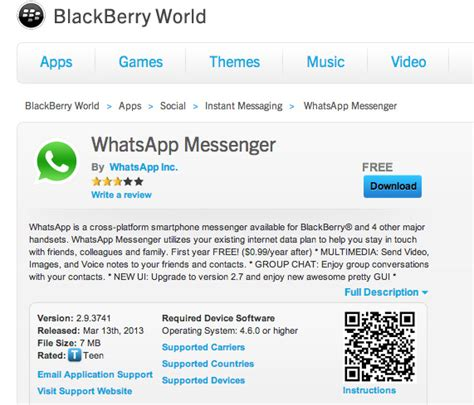 whatsapp messenger now available for blackberry z10 canadian reviewer reviews news and