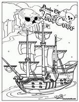 Pirate Coloring Ship Pages Pirates Printable Drawing Sunken Boat Sheets Sheet Halloween Pittsburgh Cartoon Drawings Source Area Cruise Popular Everfreecoloring sketch template