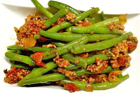 carb rezept scharfe gruene bohnen pfanne
