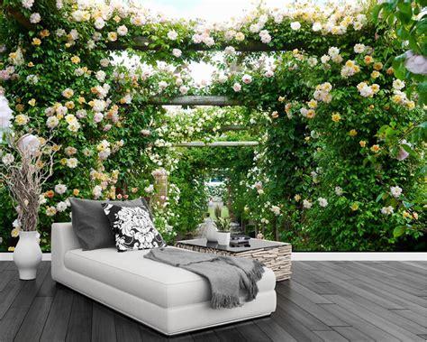 beibehang custom wallpaper rose garden corridor pastoral