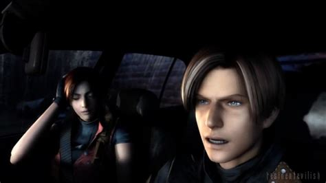 Image Leon And Claire After Crashpng Resident Evil