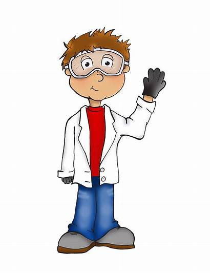 Scientist Cartoon Science Children Cientifico Para