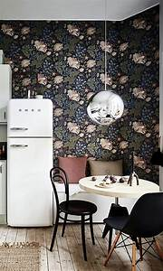 25 best ideas about smeg fridge on pinterest mint for Kitchen colors with white cabinets with rouleaux papier peint