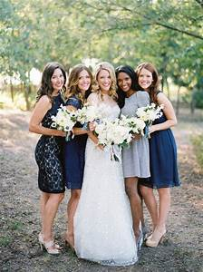 Mismatched Blue Bridesmaid Dresses - Elizabeth Anne ...