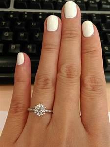 1 carat round diamond thin diamond band 6 prong 5 5 With wedding ring diamond size