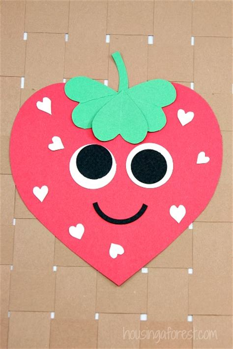 heart strawberry craft housing  forest