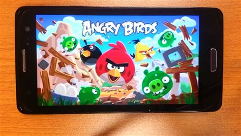 video android angry birds   running  tizen iot gadgets